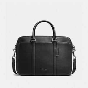 Coach Perry Slim Briefcase in Crossgrain Leather